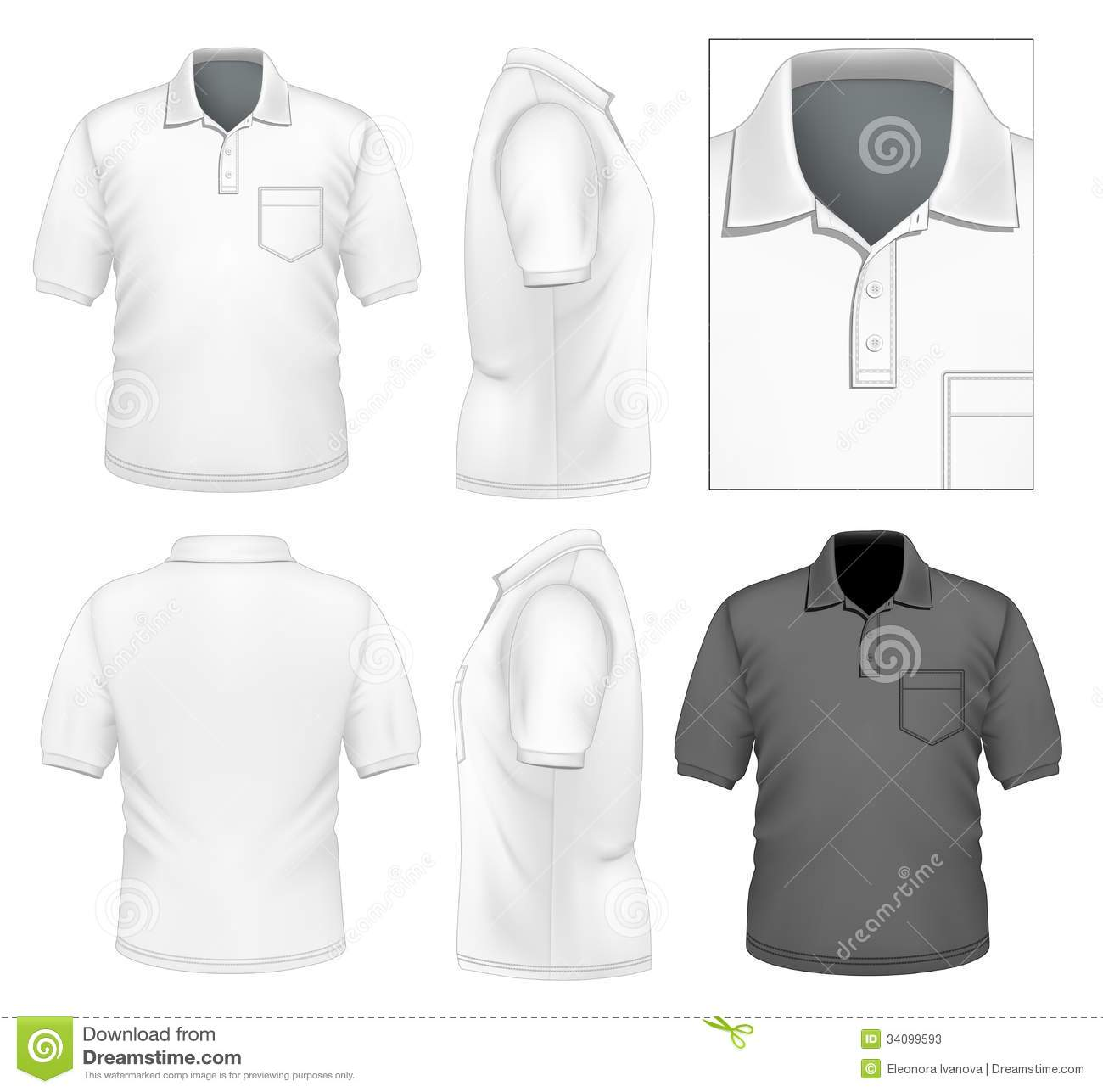 Men 39 s polo shirt design template stock vector image for Polo shirt design template