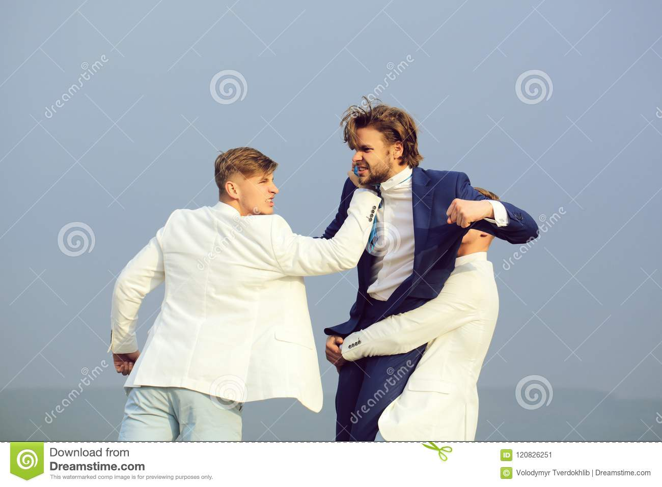 Men`s showdown. pressure and raidership, business conflict, interest conflict, boss and employee