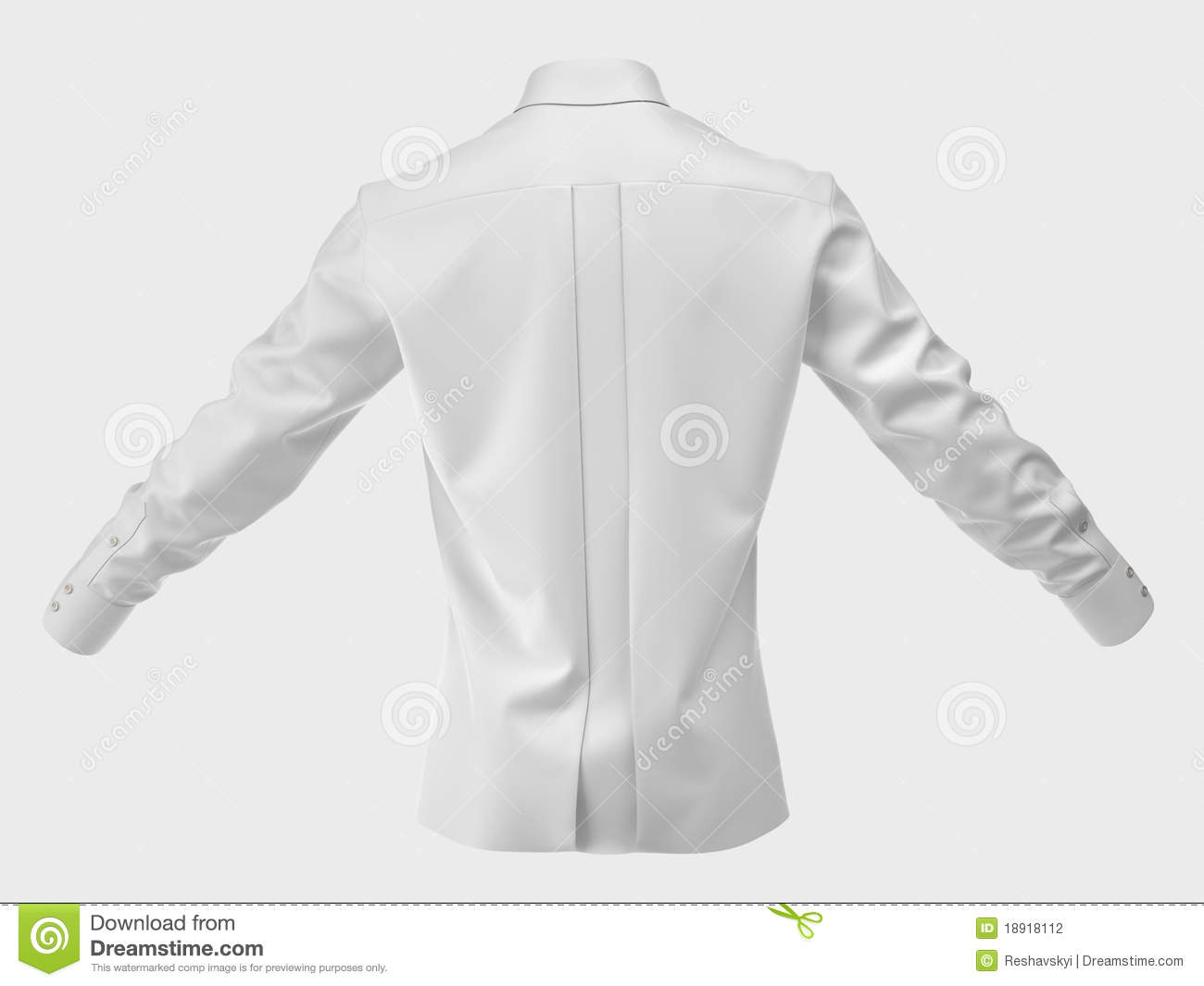 Men 39 S Silk Shirt Isolated On White Stock Photography