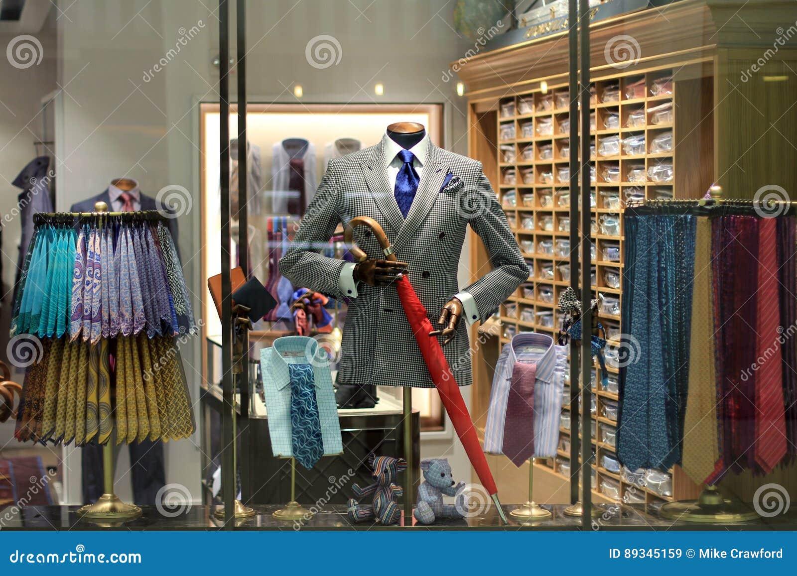 Men`s store display