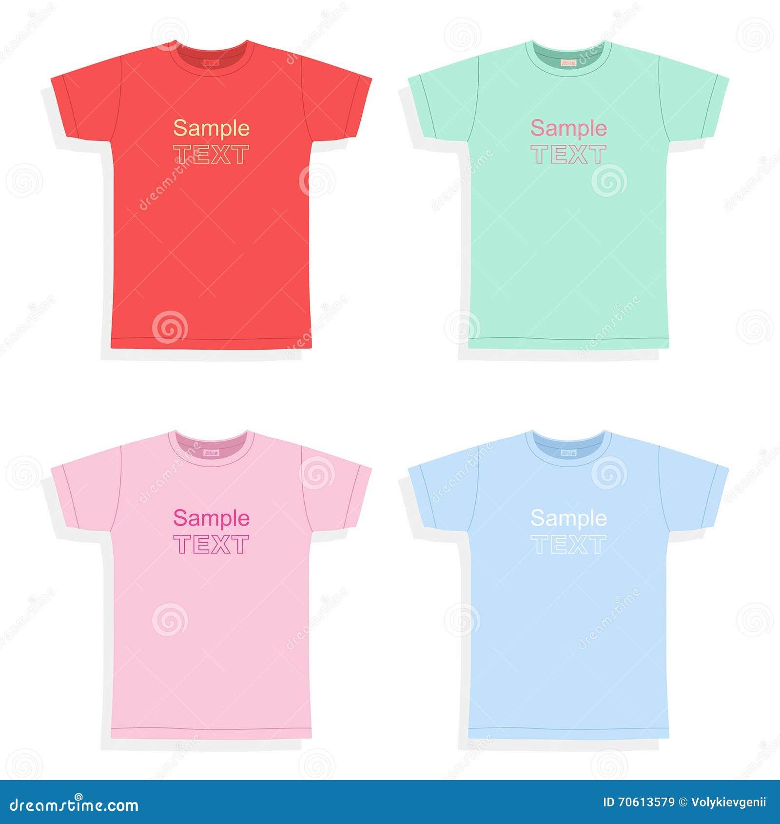 4c1209ce Men's T-shirt Design Template Stock Vector - Illustration of colour ...