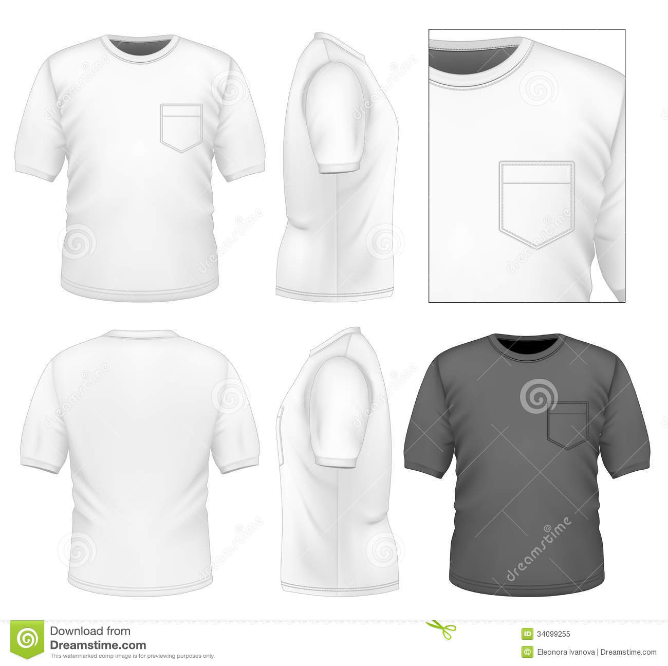 Mens t shirt design template stock vector image 34099255 men s t shirt design template pronofoot35fo Gallery