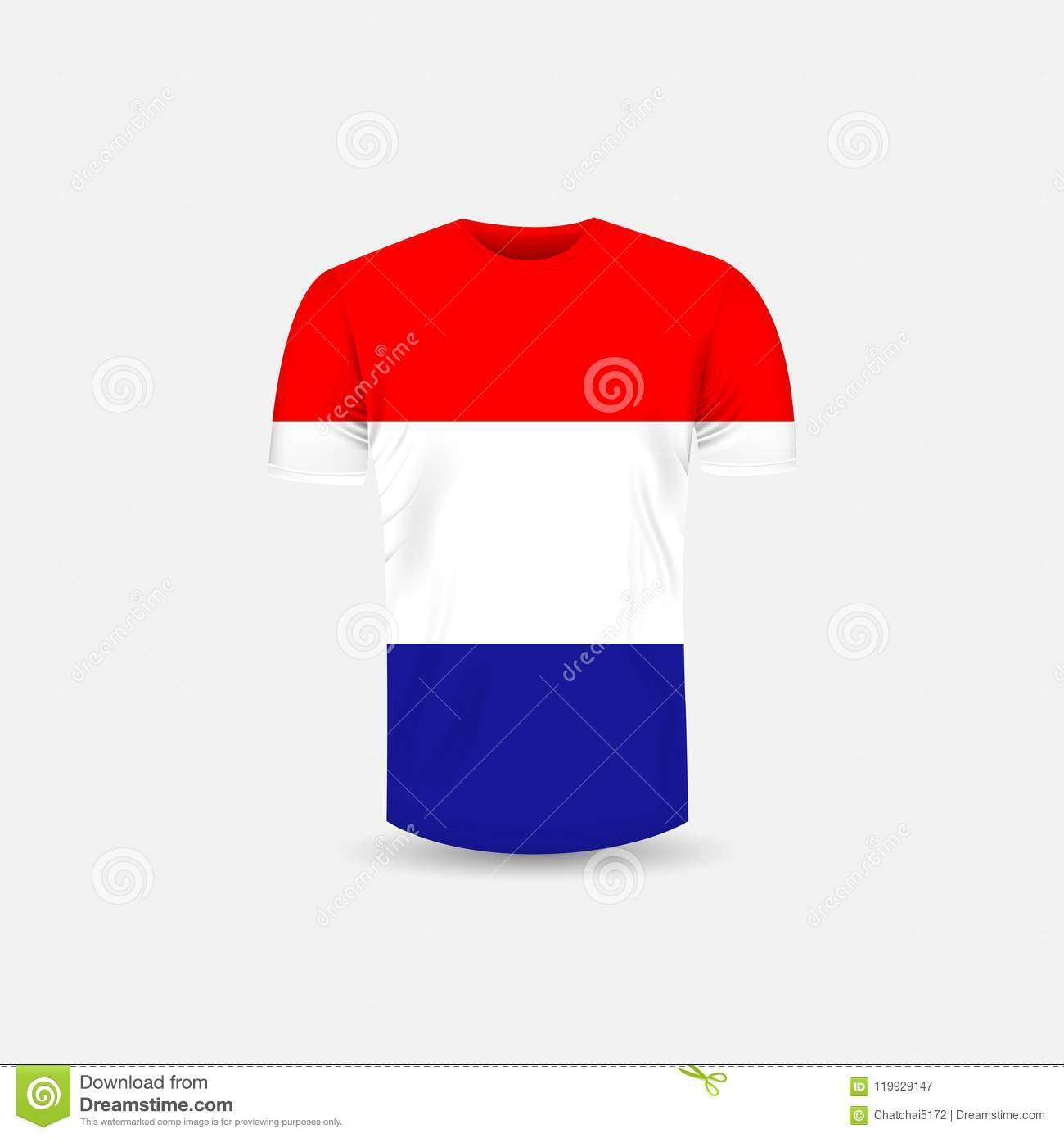 3d57c4d73547 Men`s T-shirt icon and Croatia flag background.Round neck Jersey  background.Front view.Shadows and highlights mock-up templates.White jersey  mock up ...