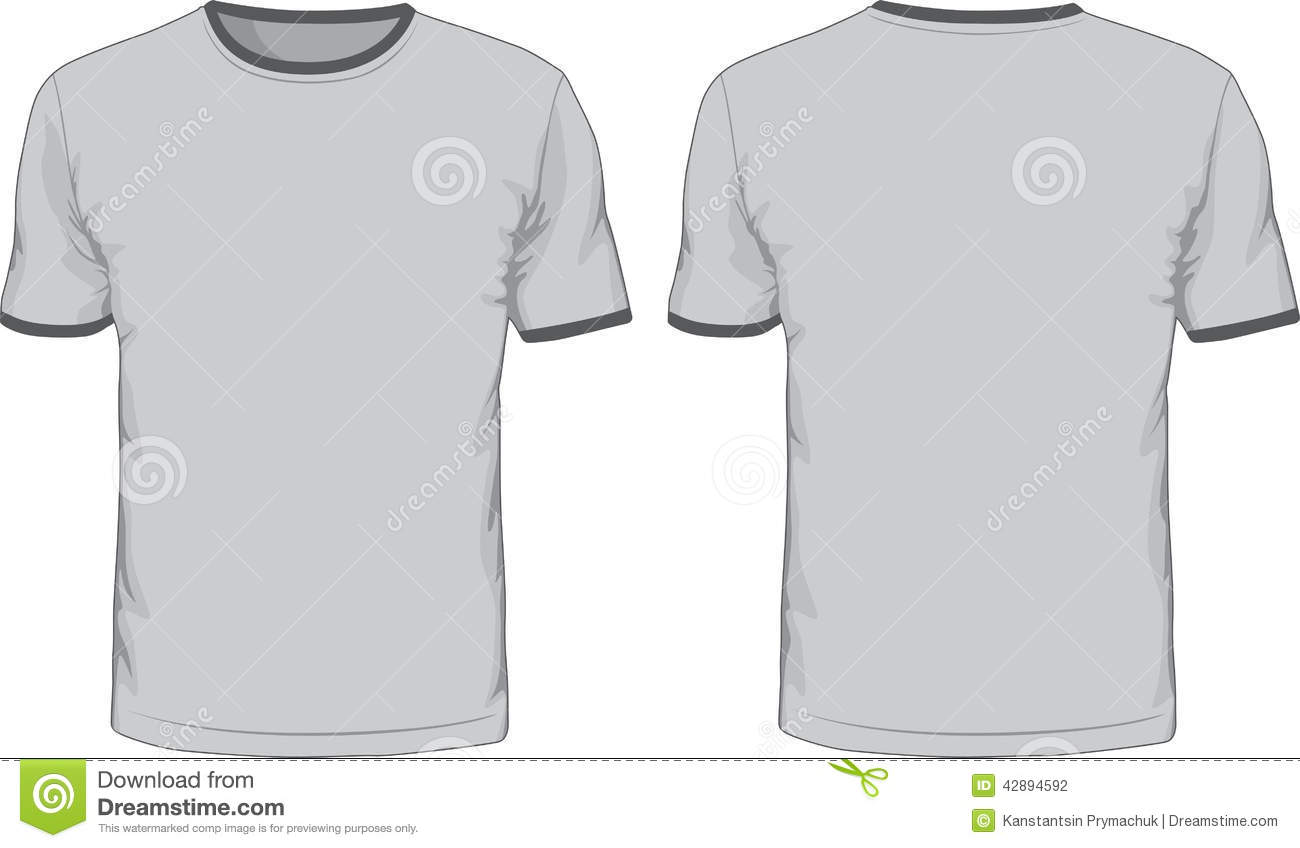 Blank T Shirt Template Front Back Views Stock Photos, Images ...