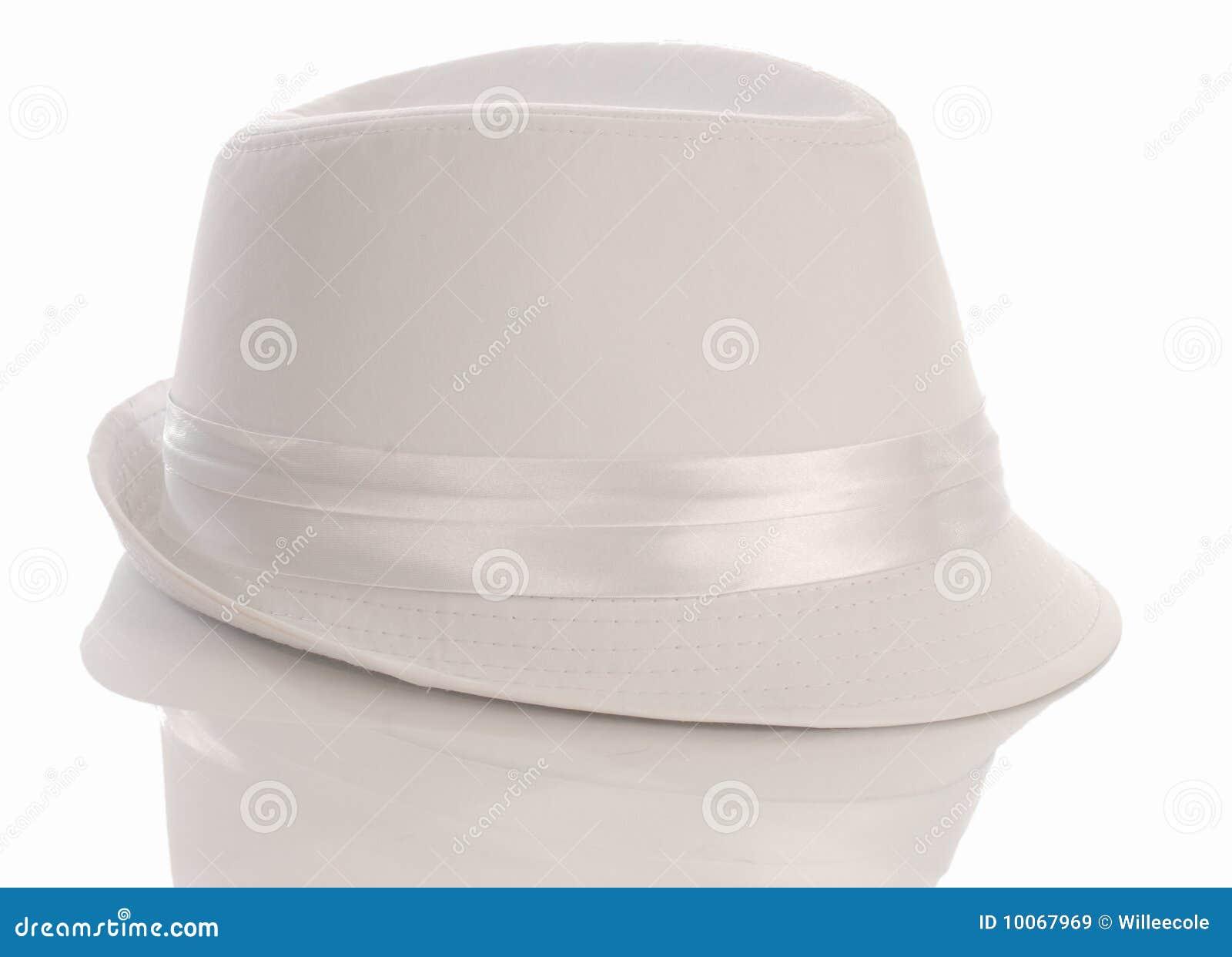 fd21b28bccf Men s white dress hat stock image. Image of fedora