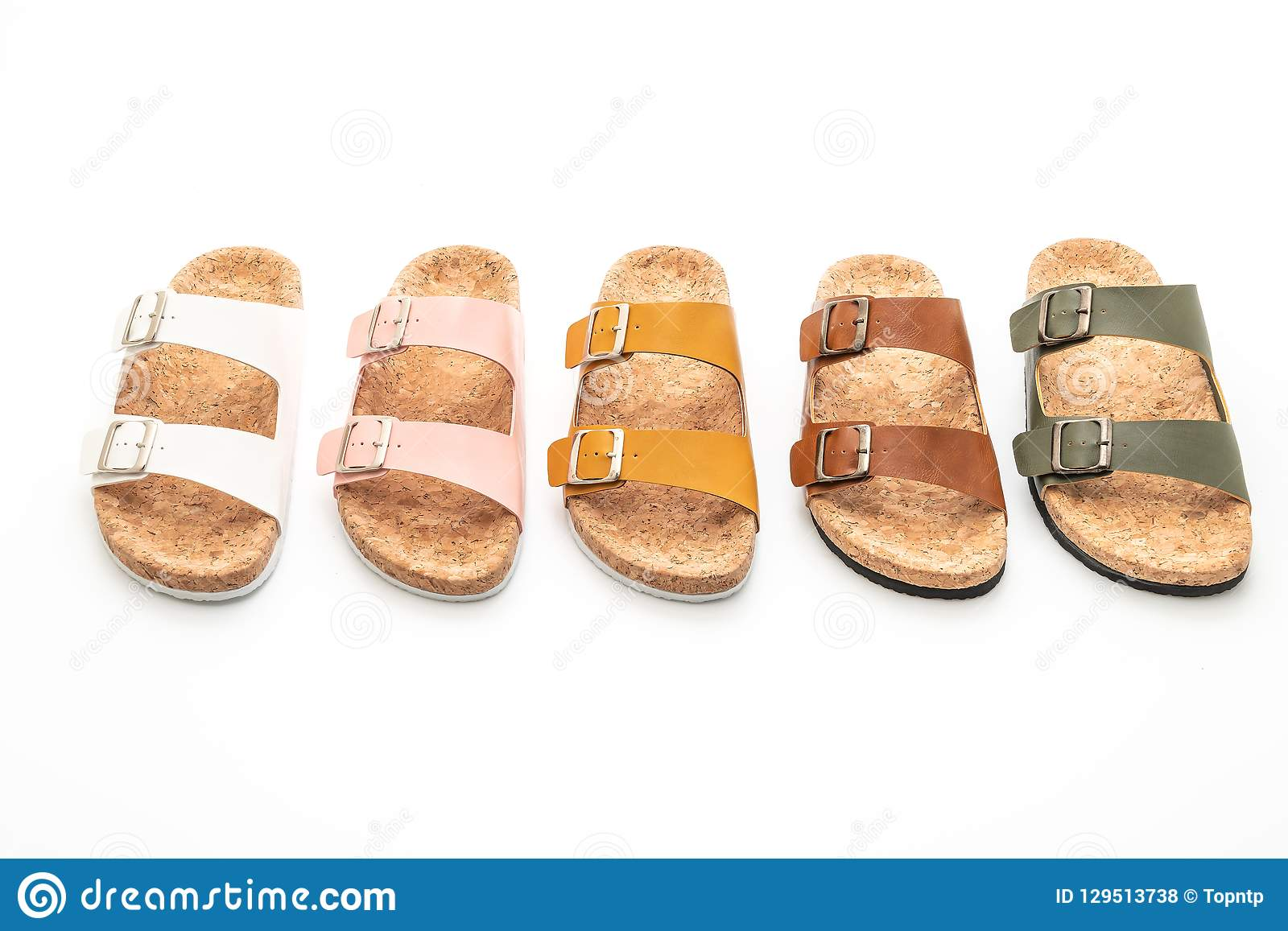 eefd6dd53 Men s And Women s (unisex) Fashion Leather Sandals Stock Photo ...