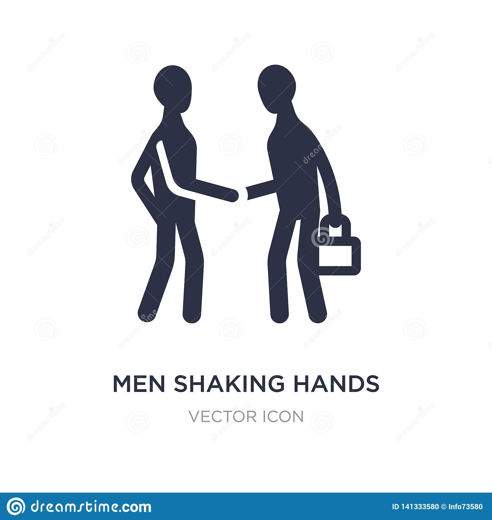 men shaking hands icon on white background. Simple element illustration from Business concept