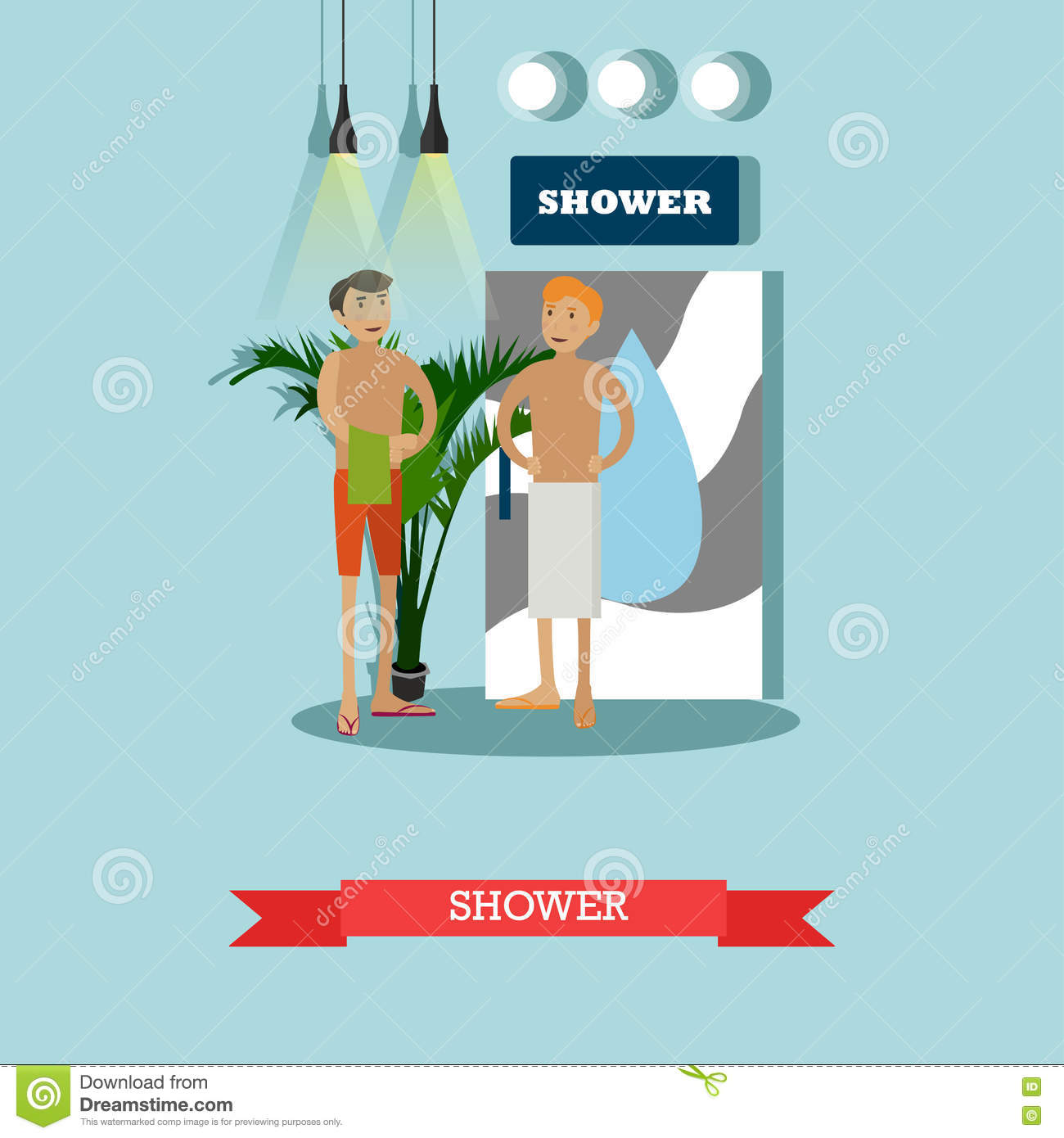naked athletic lovers shower