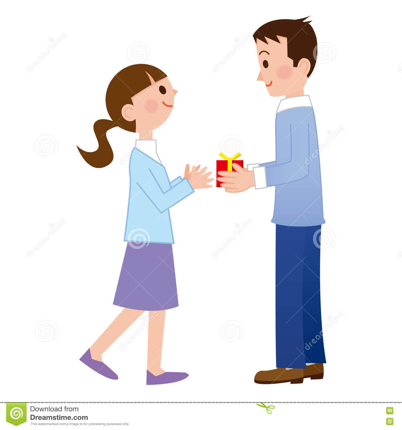 Men To Propose To Her Stock Vector