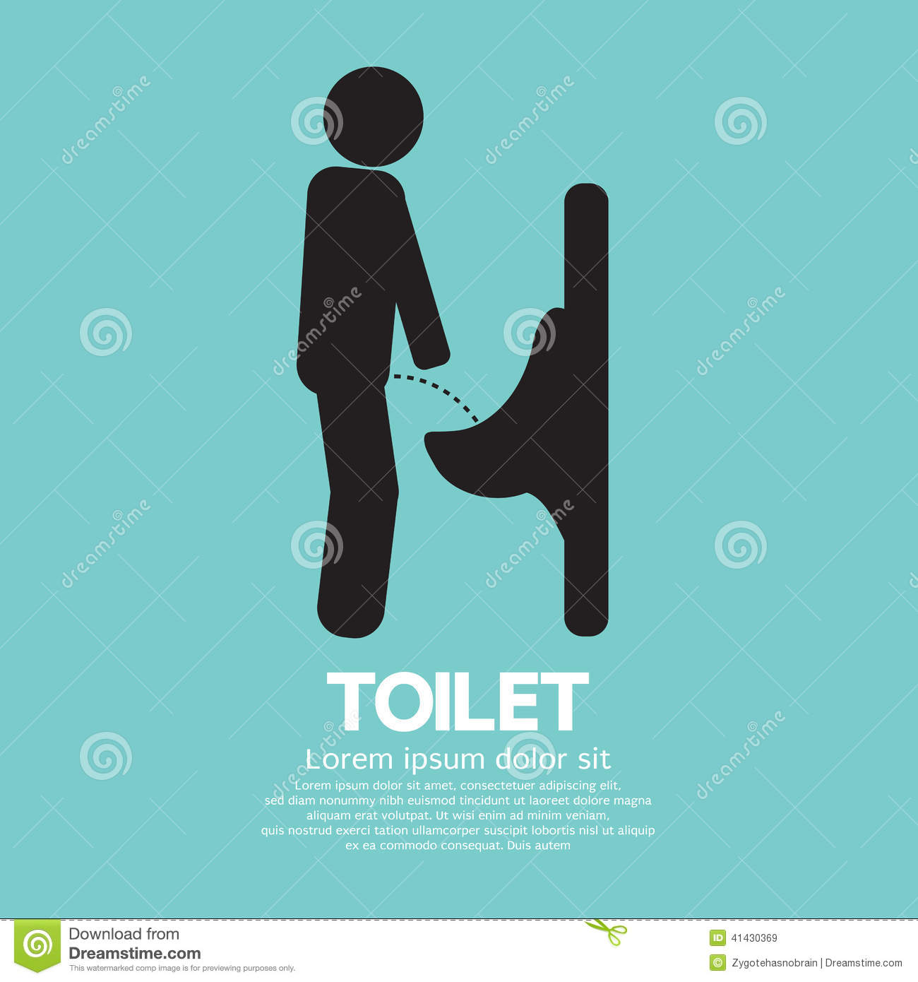 Men Toilet Sign Stock Vector Illustration Of Urinal