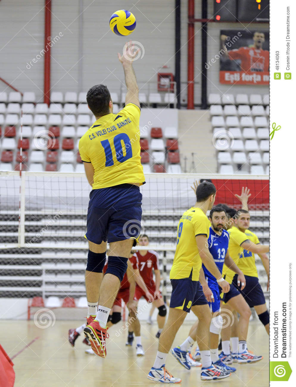 Men Volleyball Serve Editorial Stock Photo - Image: 48134063