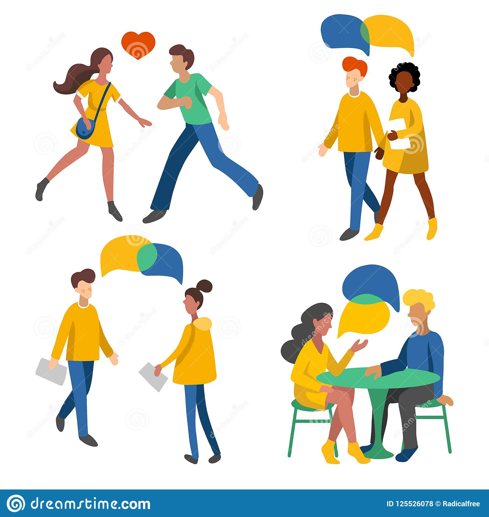 Crowd Of Indian Women Vector Avatars Stock Vector: Men And Women, Crowd Flat Icons, Romantic Couples, Pairs