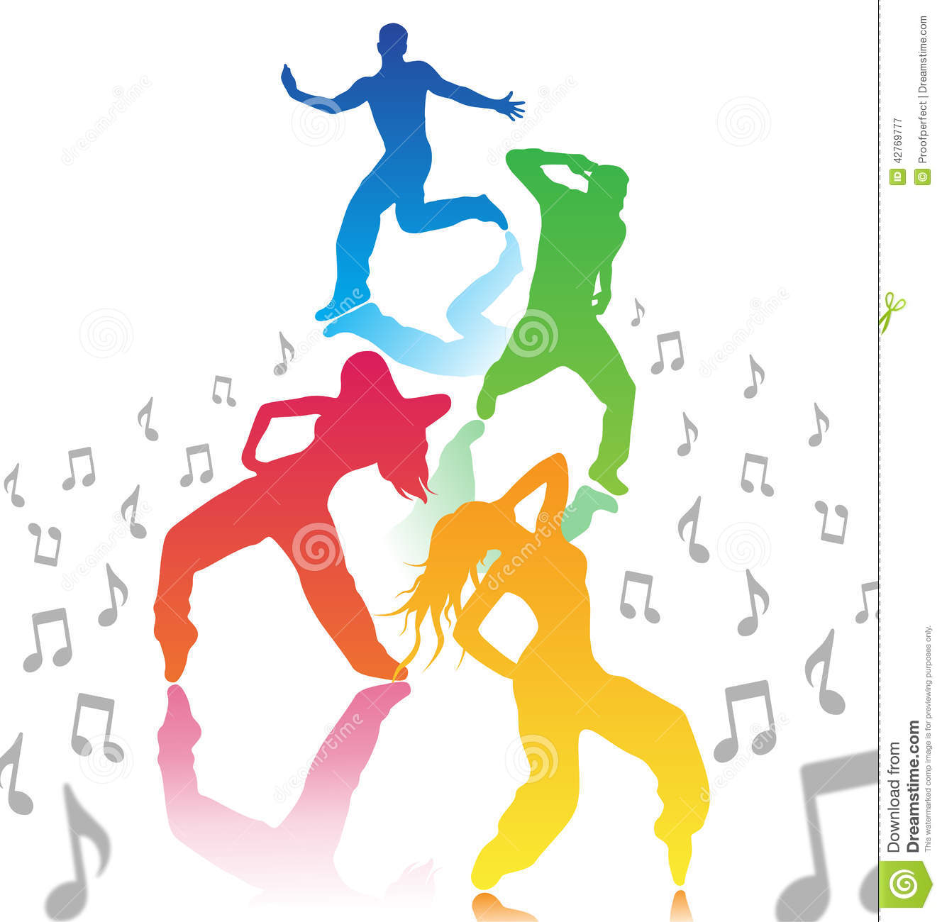 men and women dancing stock vector image 42769777 musical notes clip art for office music notes clip art free
