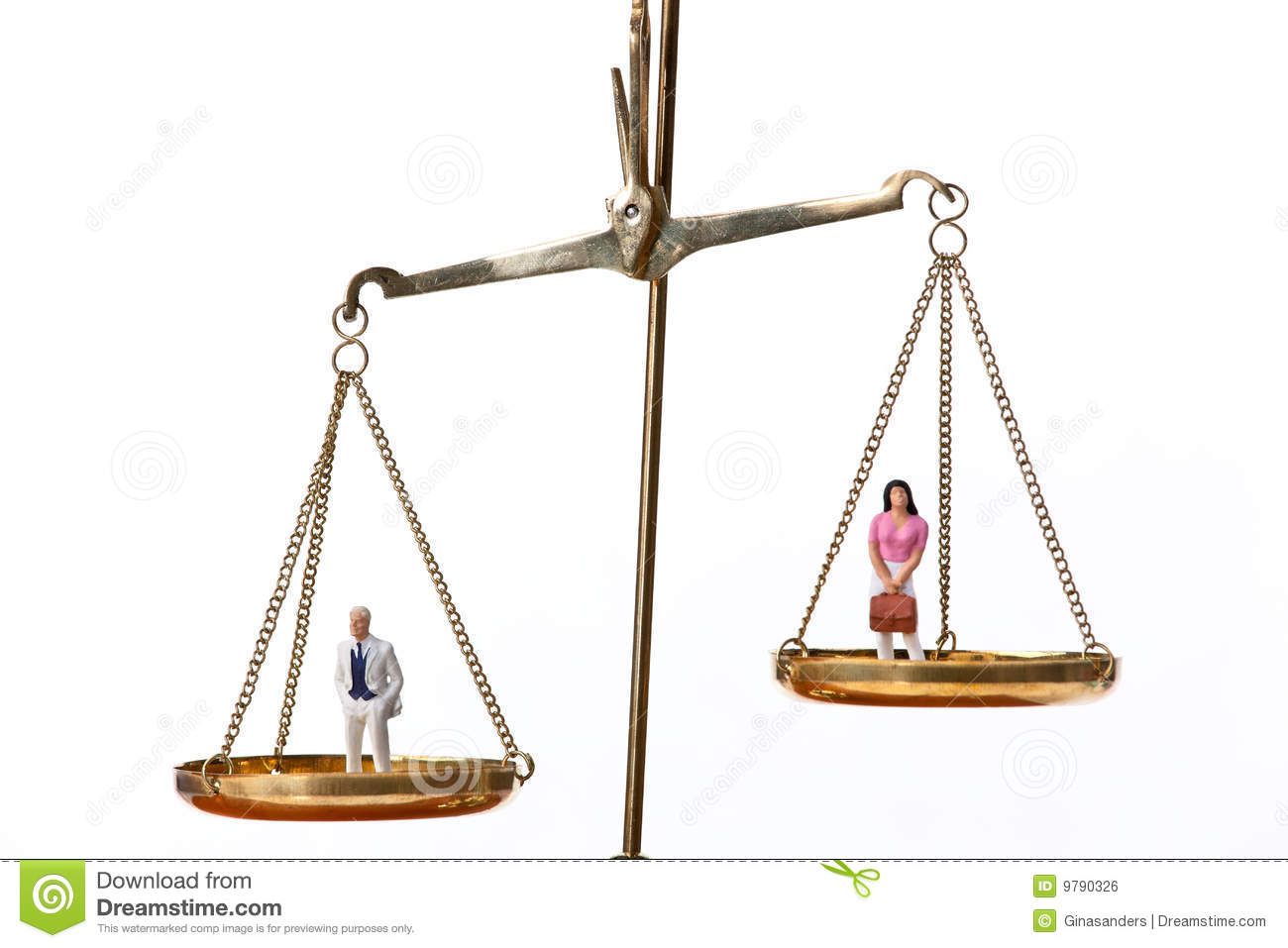 Men And Women On Equal Scalembol Stock Photo Image Of Subject