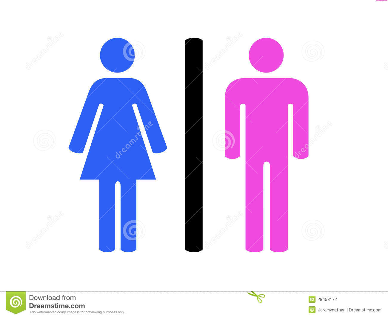 men and women restroom symbol stock photography image