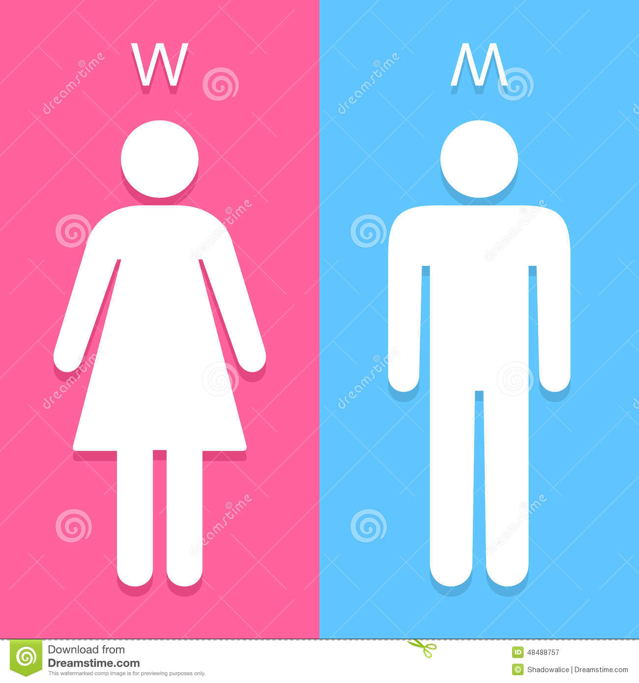 Girls bathroom sign outline - Men And Women Toilet Sign Great For Any Use Vector Eps10 Royalty Free Stock