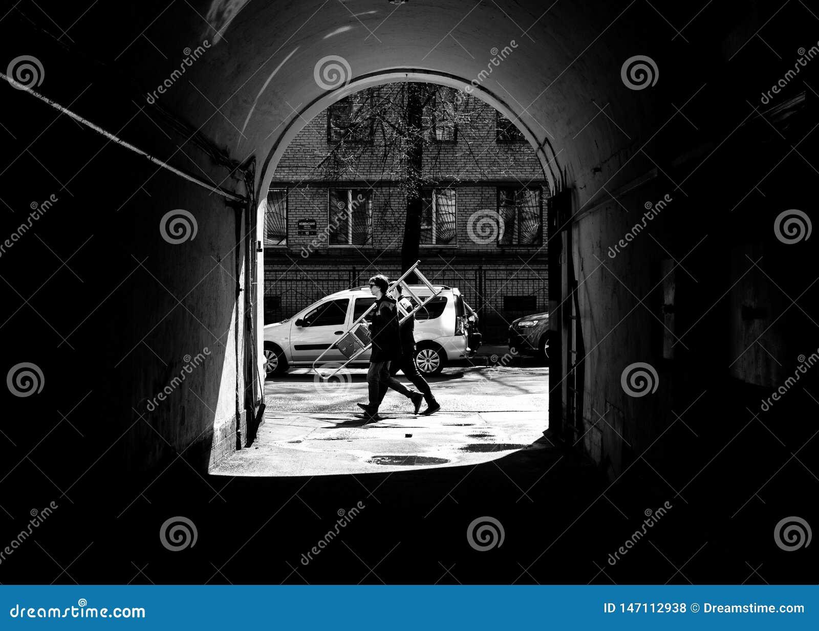 Men at work Saint Petersburg