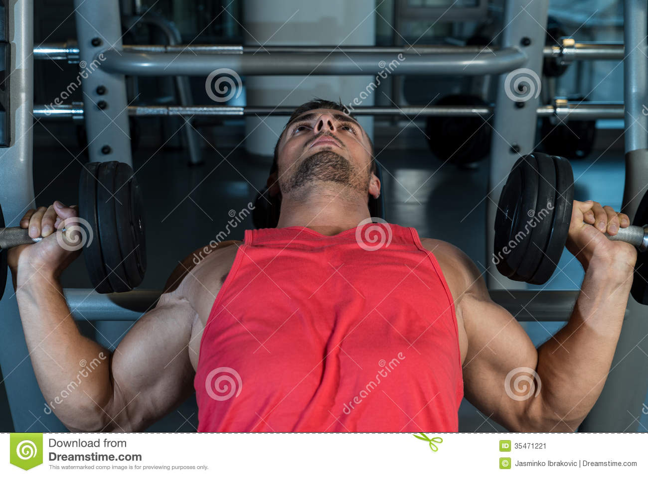 Men Working Out With Dumbbells Stock Image - Image: 35471221