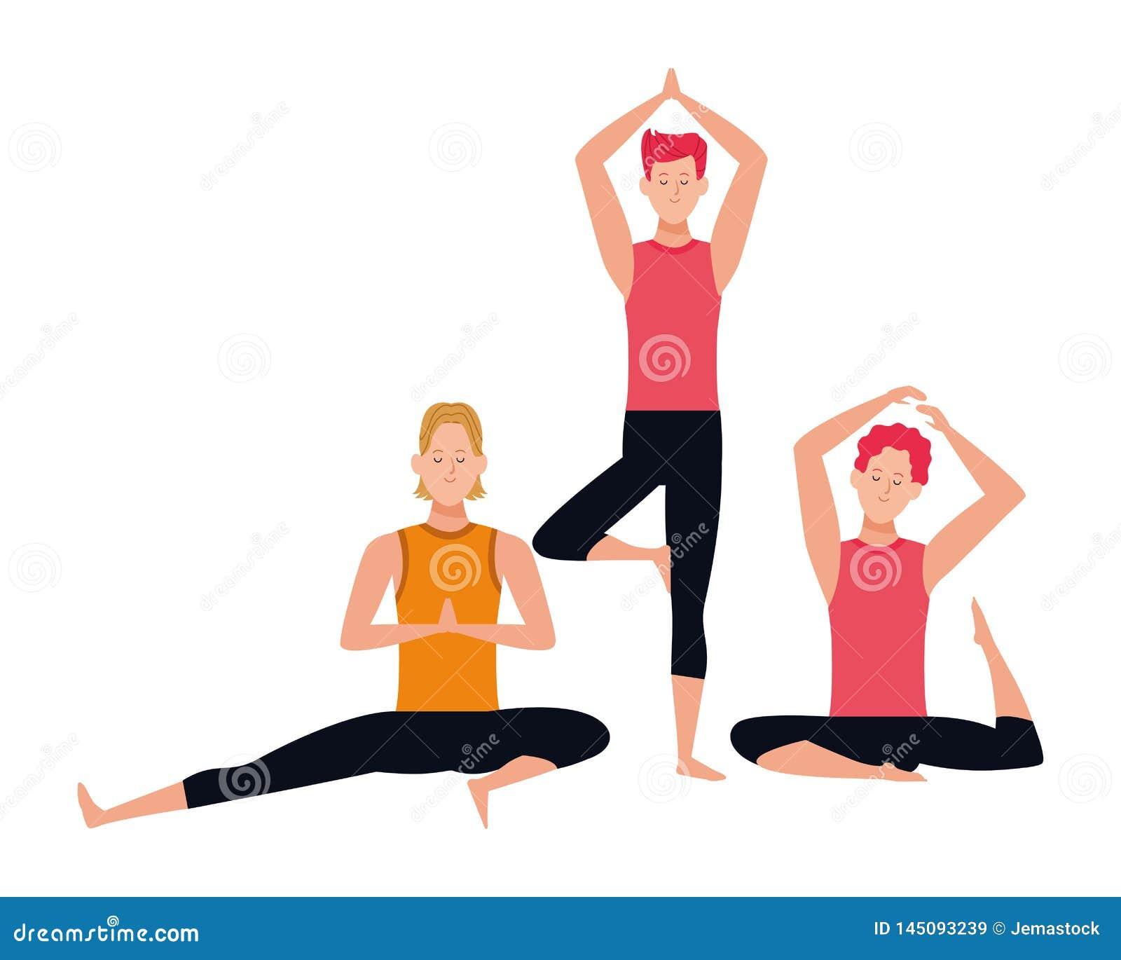 Yoga Poses Cartoon Stock Illustrations 3 223 Yoga Poses Cartoon Stock Illustrations Vectors Clipart Dreamstime