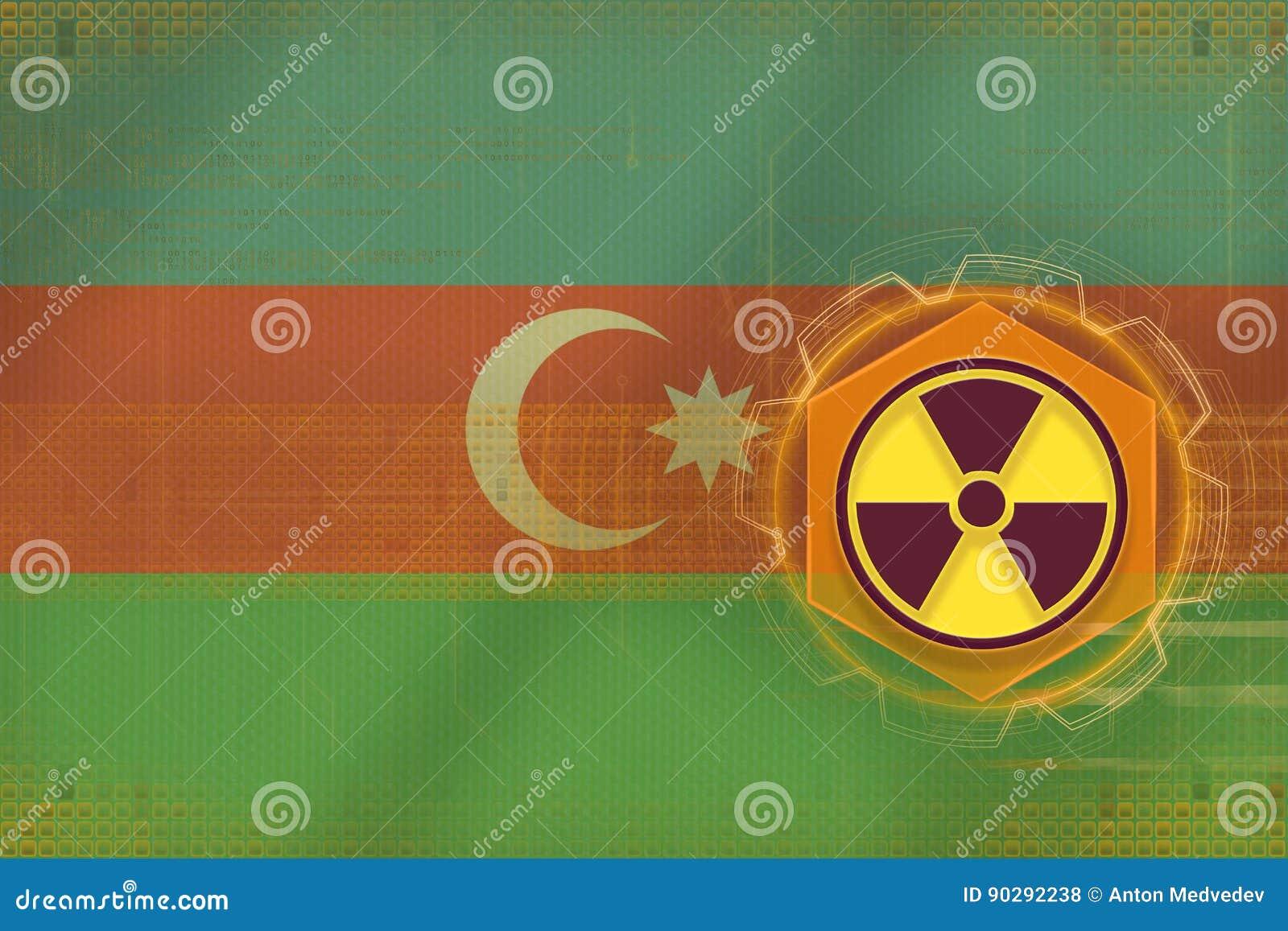 Menace radioactive de l Azerbaïdjan Concept de danger de rayonnement