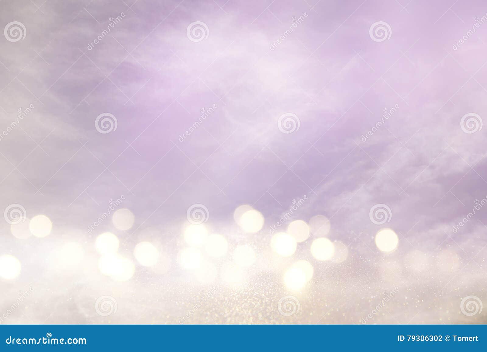 Menchie, światło i srebra bokeh abstrakcjonistyczni światła, - purpury