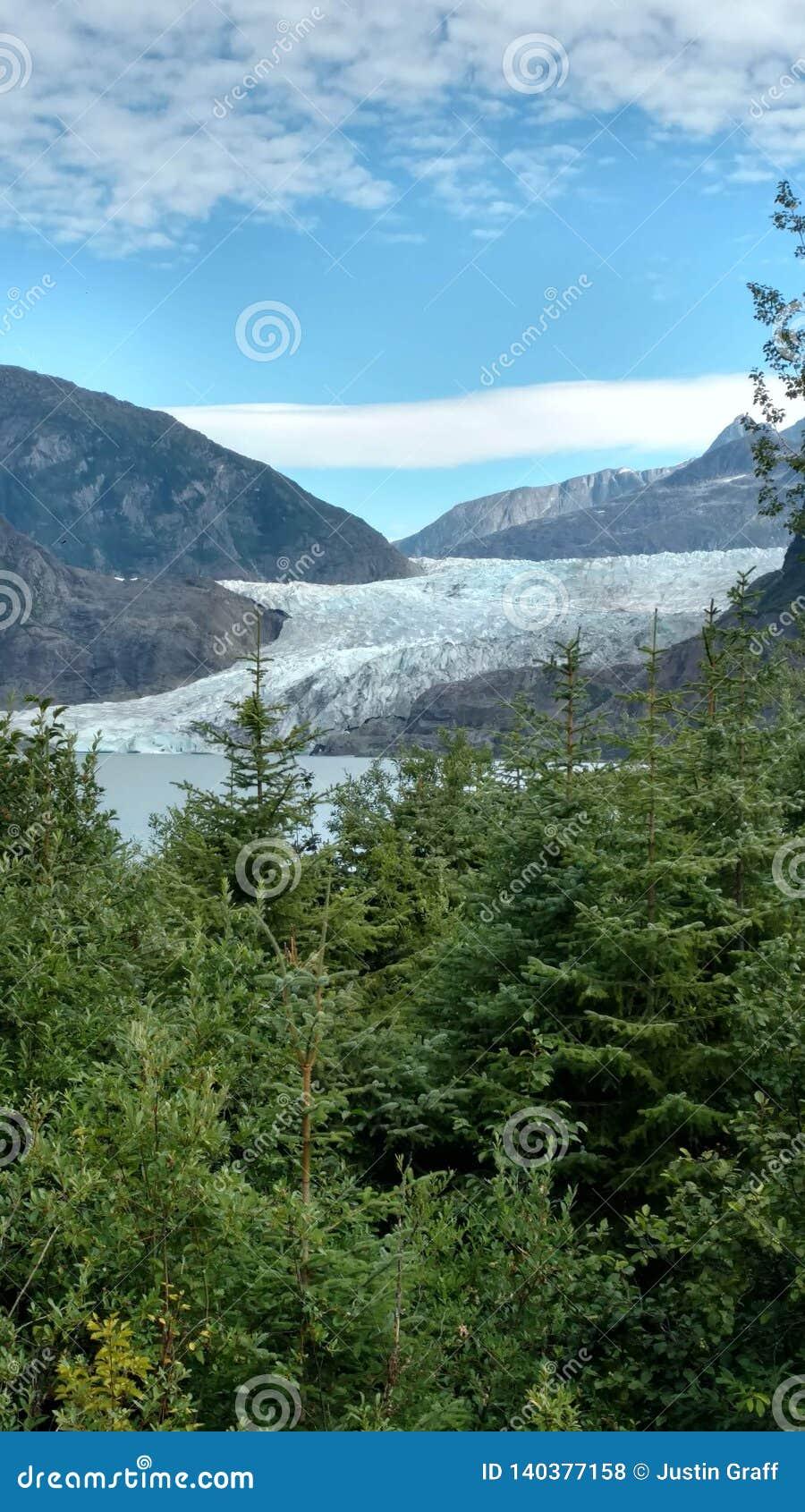 Mendenhallgletsjer in Juneau Alaska E r