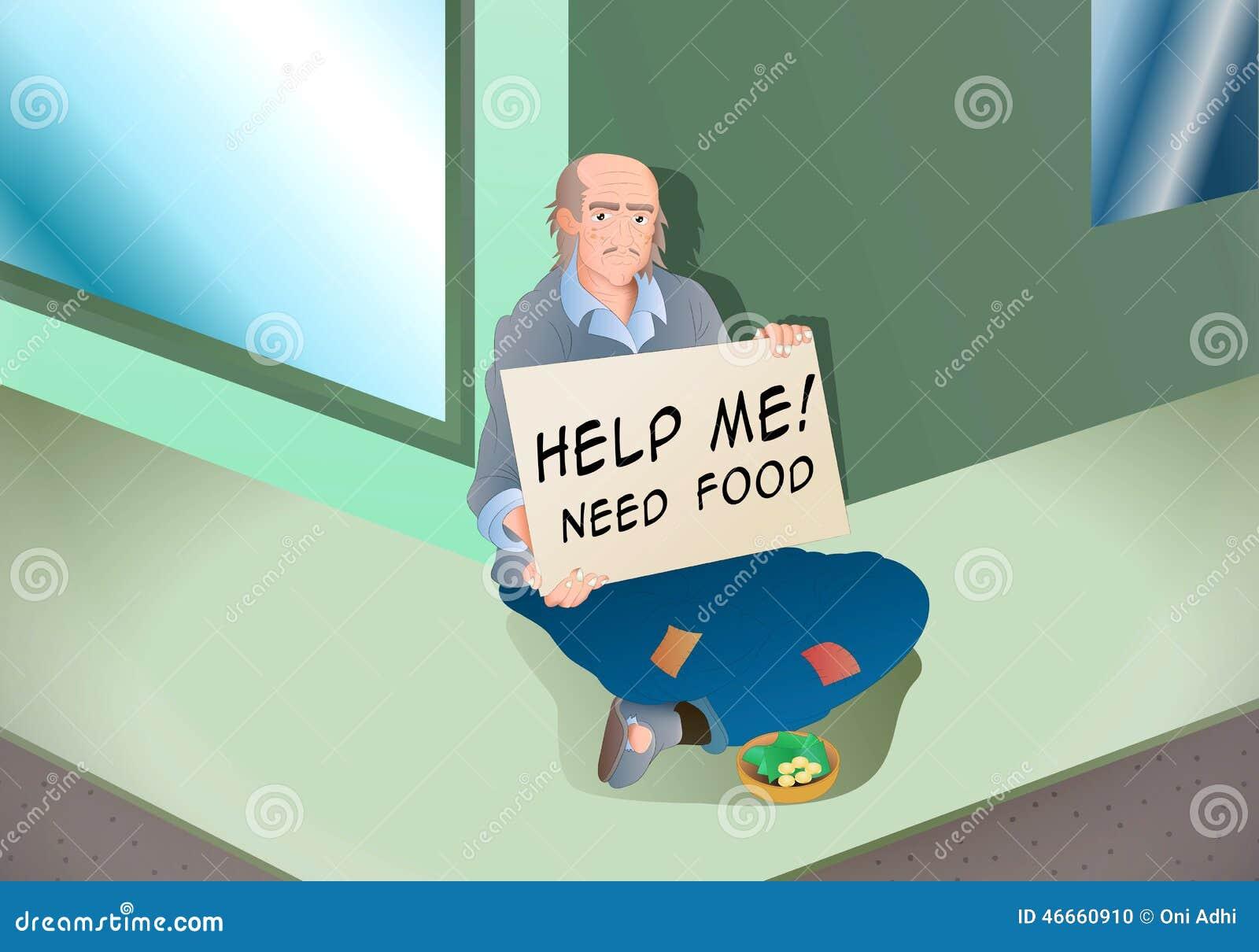 Mendigo hambriento