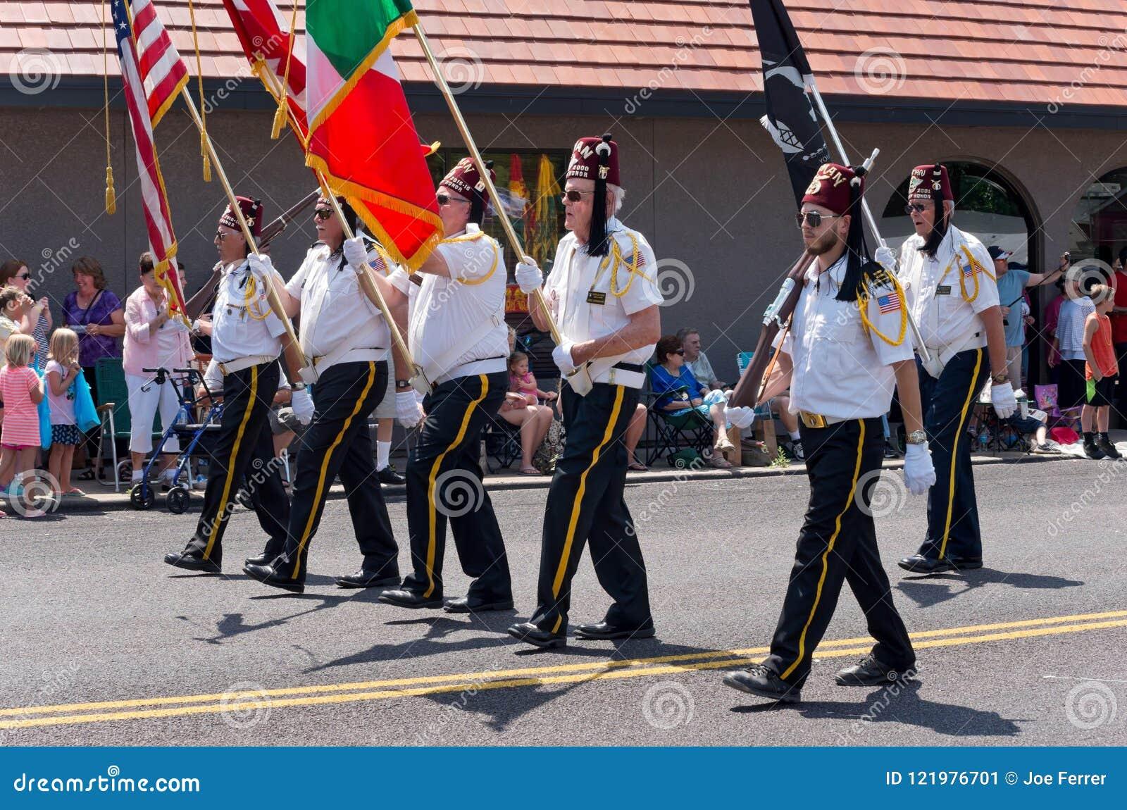 Shriners March at Mendota Parade