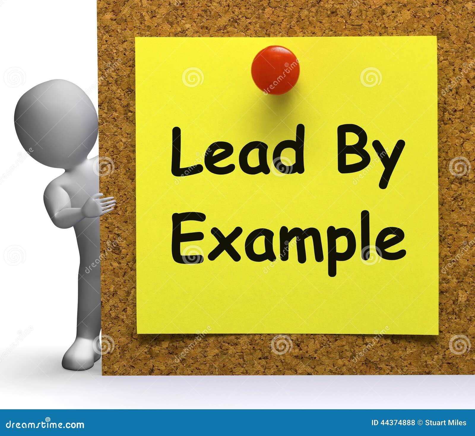 menez par le mentor de moyens de note d'exemple ou inspirez