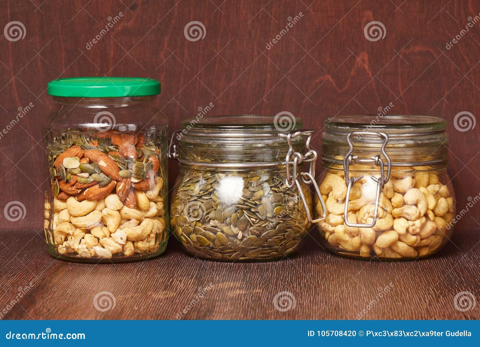 Mengeling van noten en zaden