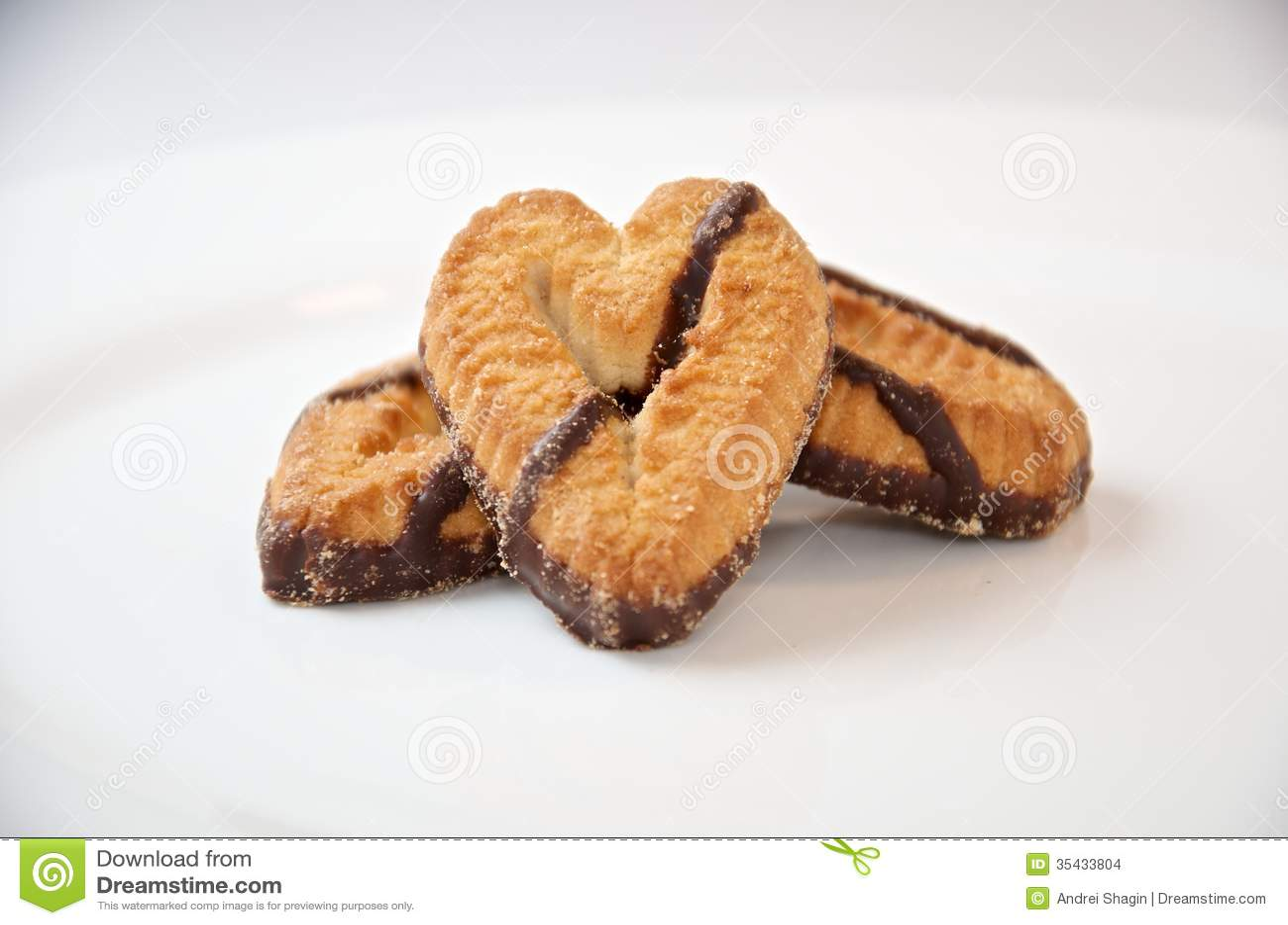 Mengeling van zoet koekjesclose-up
