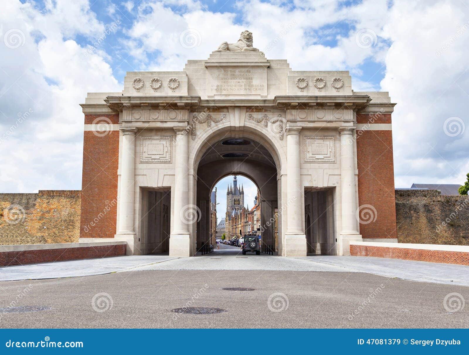Menin门-第一次世界大战纪念品在伊珀尔