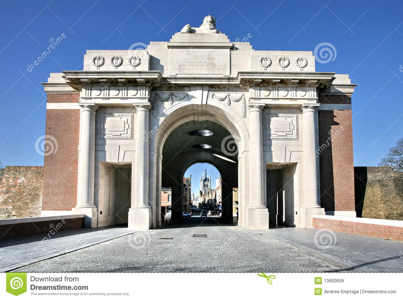 The first world war memorial at Ypres dedicated to those British ...