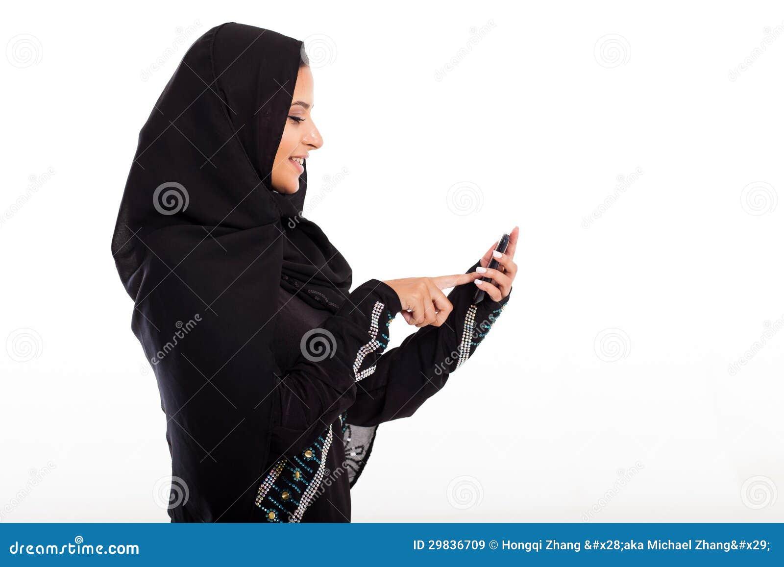 Telefone árabe da menina