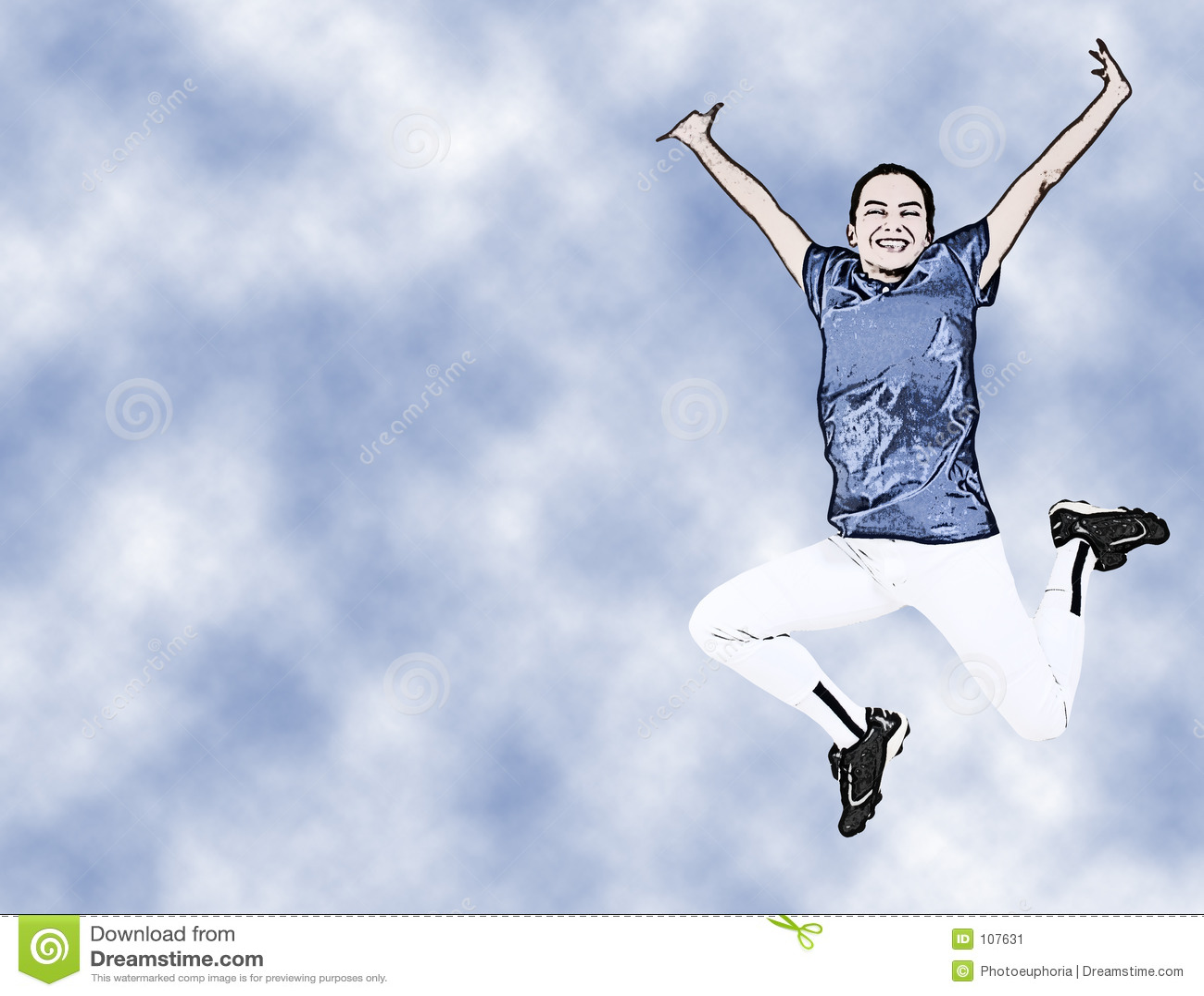 Menina adolescente da ilustração no salto uniforme