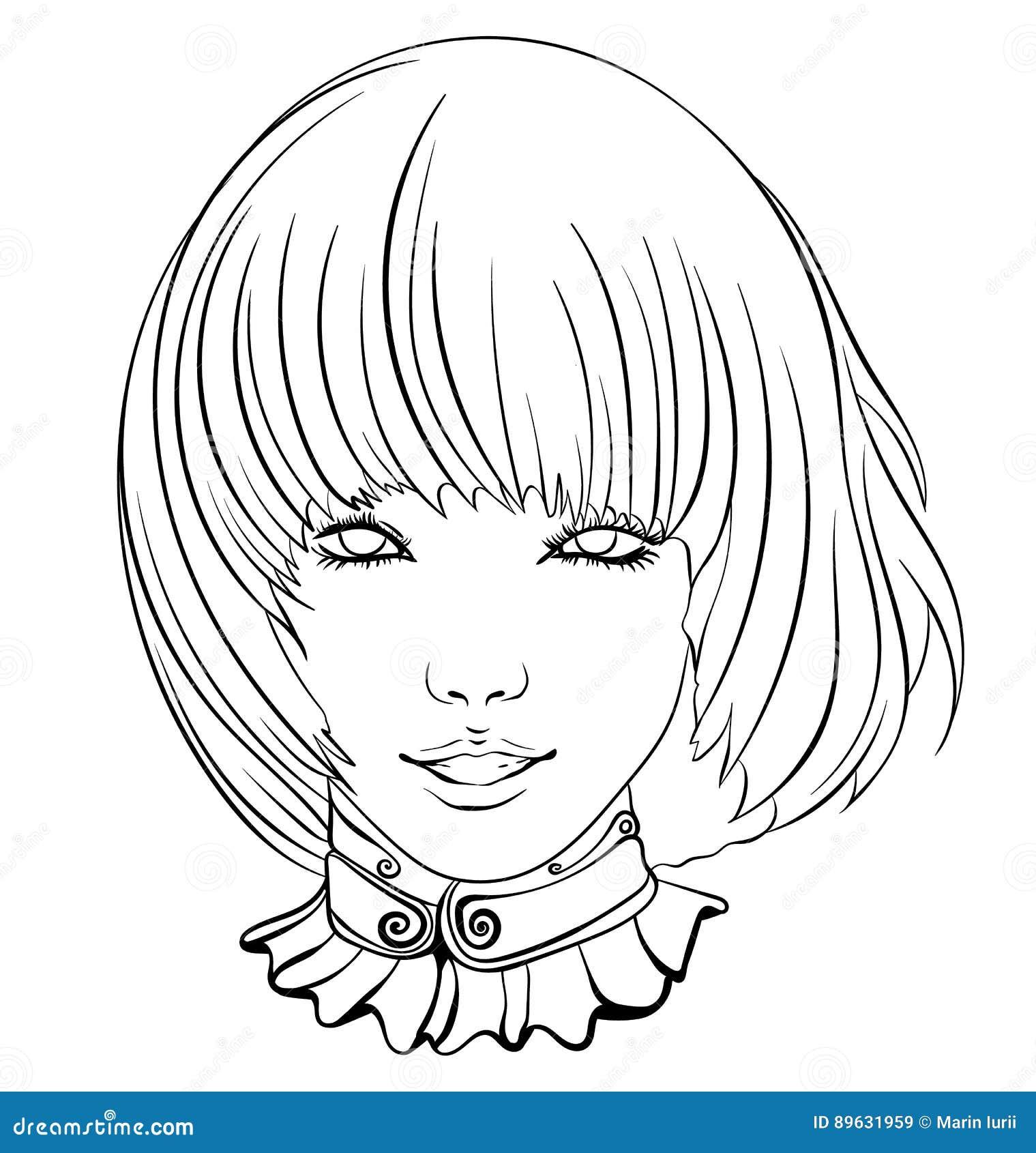 Menina asiática de sorriso