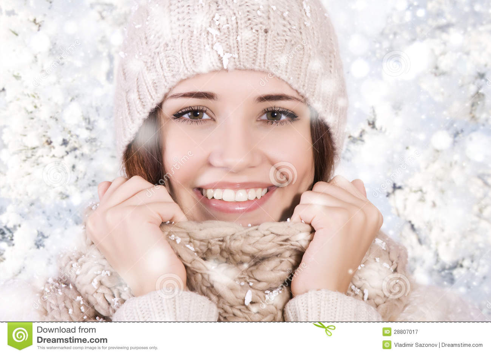 Menina bonita do inverno