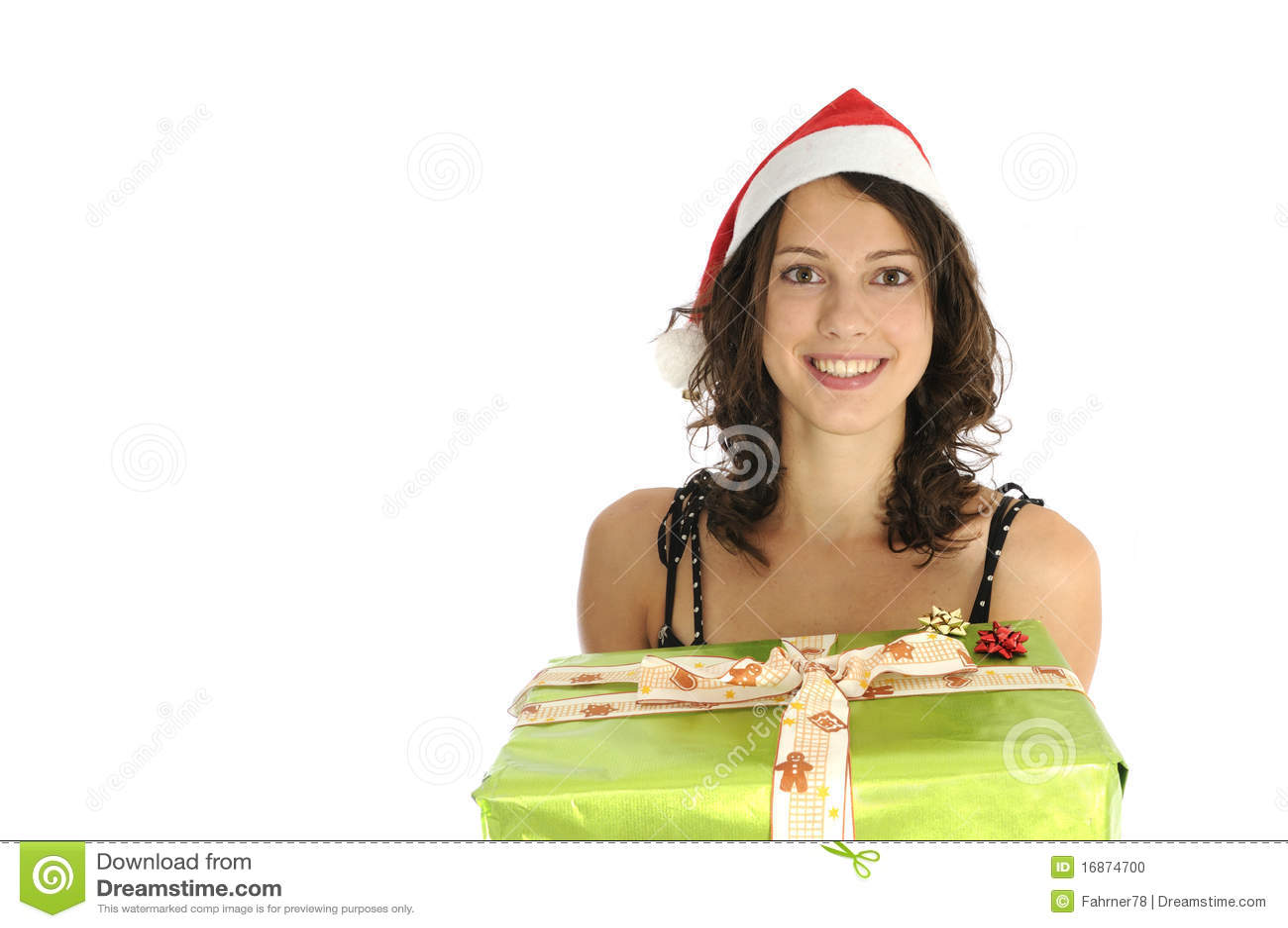 Menina bonito de Santa