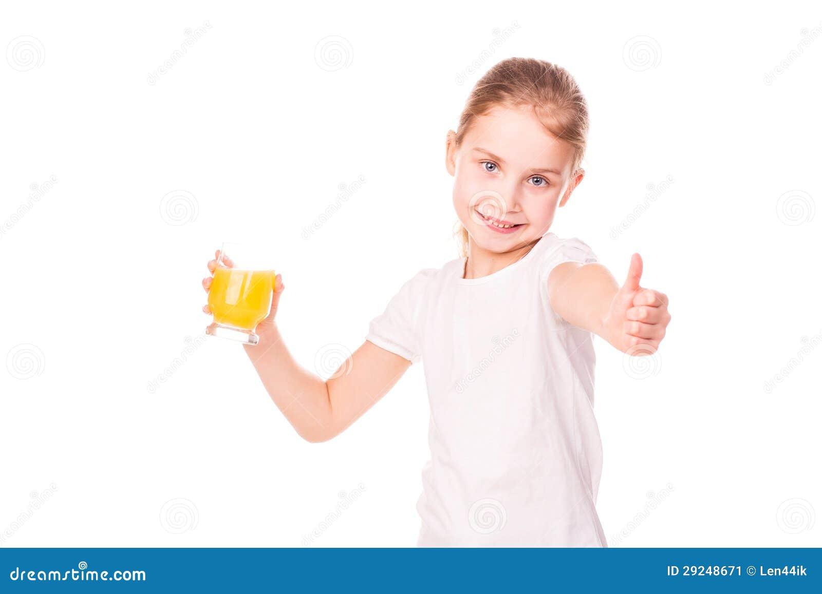 Download Menina Bonito Que Guardara De Vidro Com Sorriso Do Suco Imagem de Stock - Imagem de nutrition, cabelo: 29248671