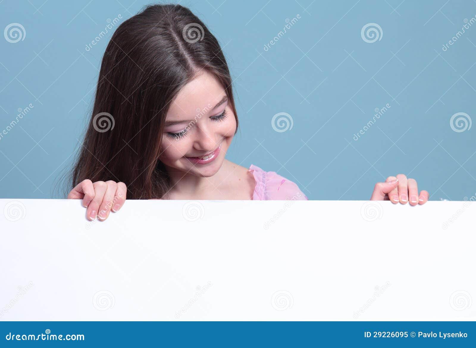Download Menina com bandeiras imagem de stock. Imagem de advert - 29226095