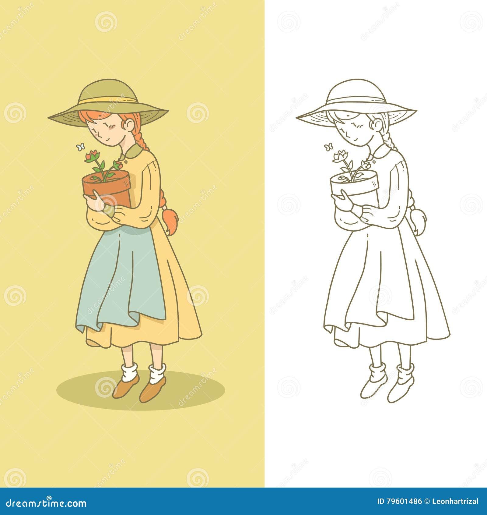 Menina com flor