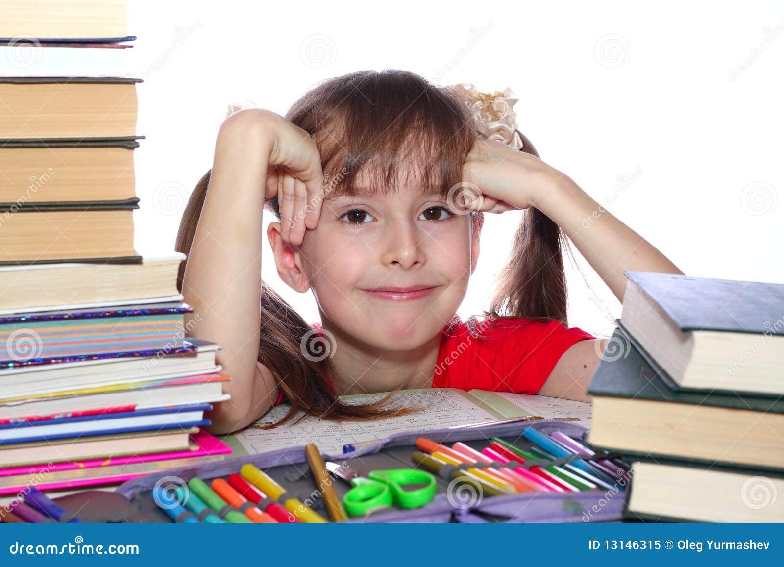 A menina com livros