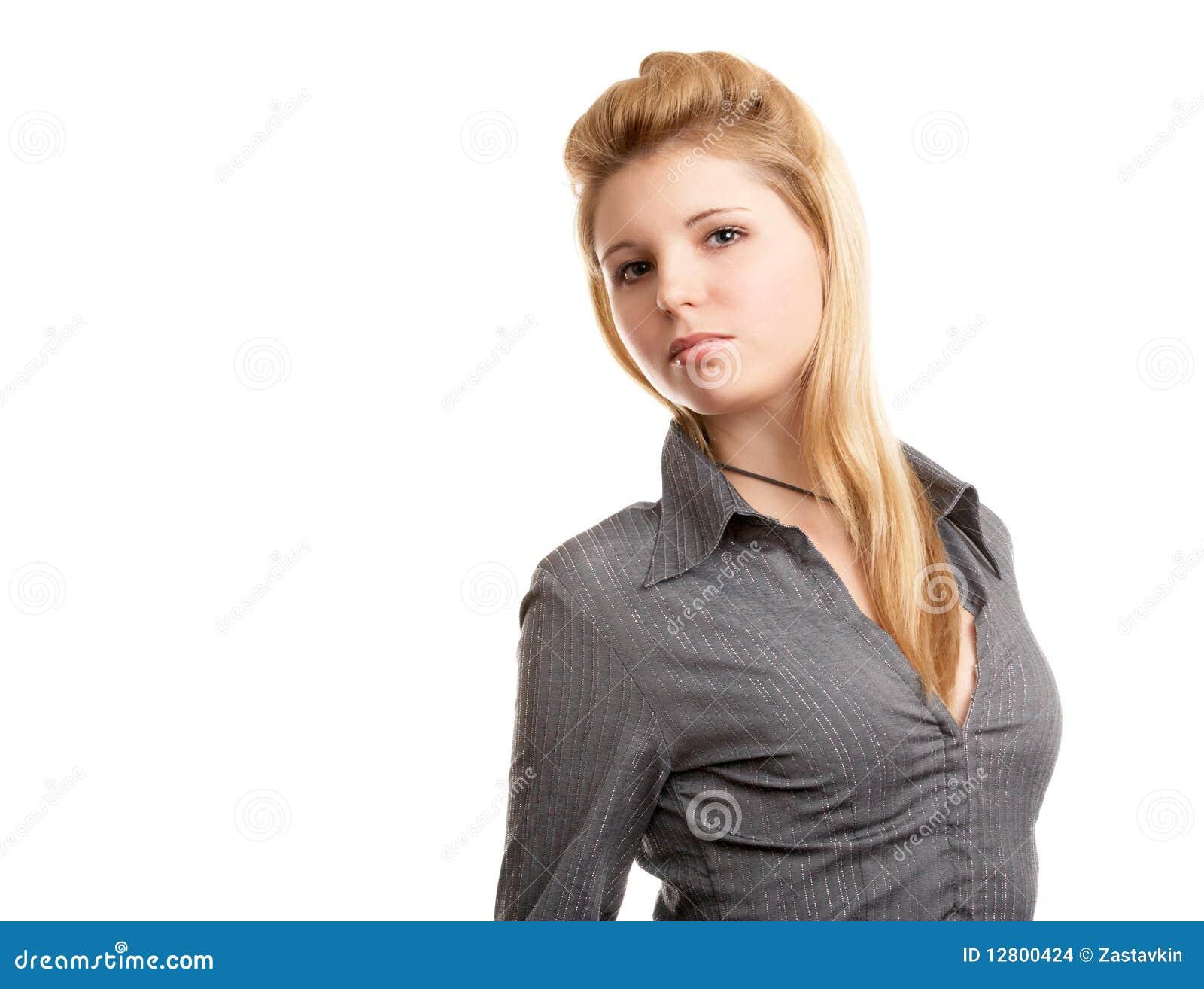 Menina de cabelos compridos loura