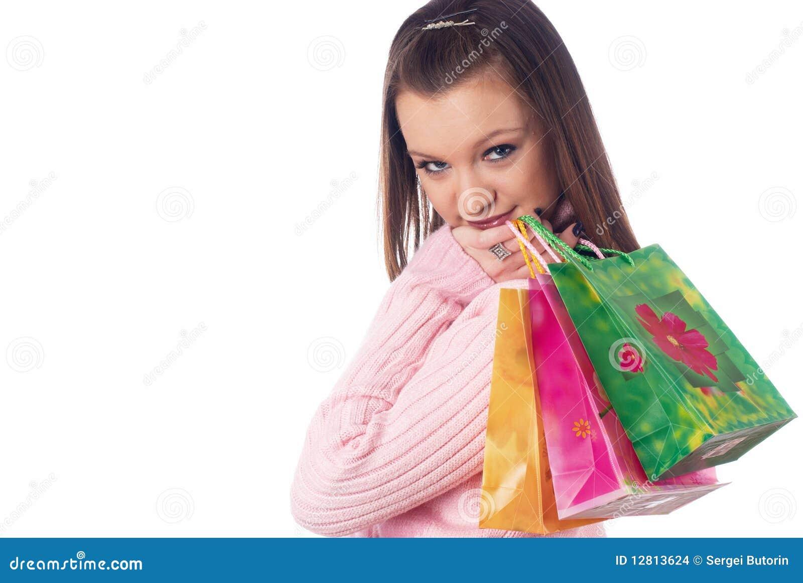 Menina de compra