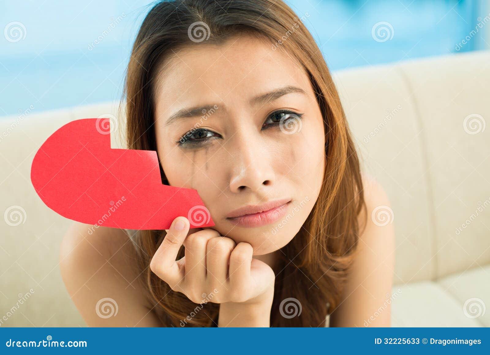 Download Menina deprimida imagem de stock. Imagem de retrato, glance - 32225633