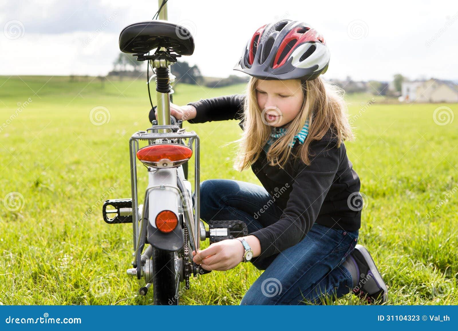 Menina do ciclismo