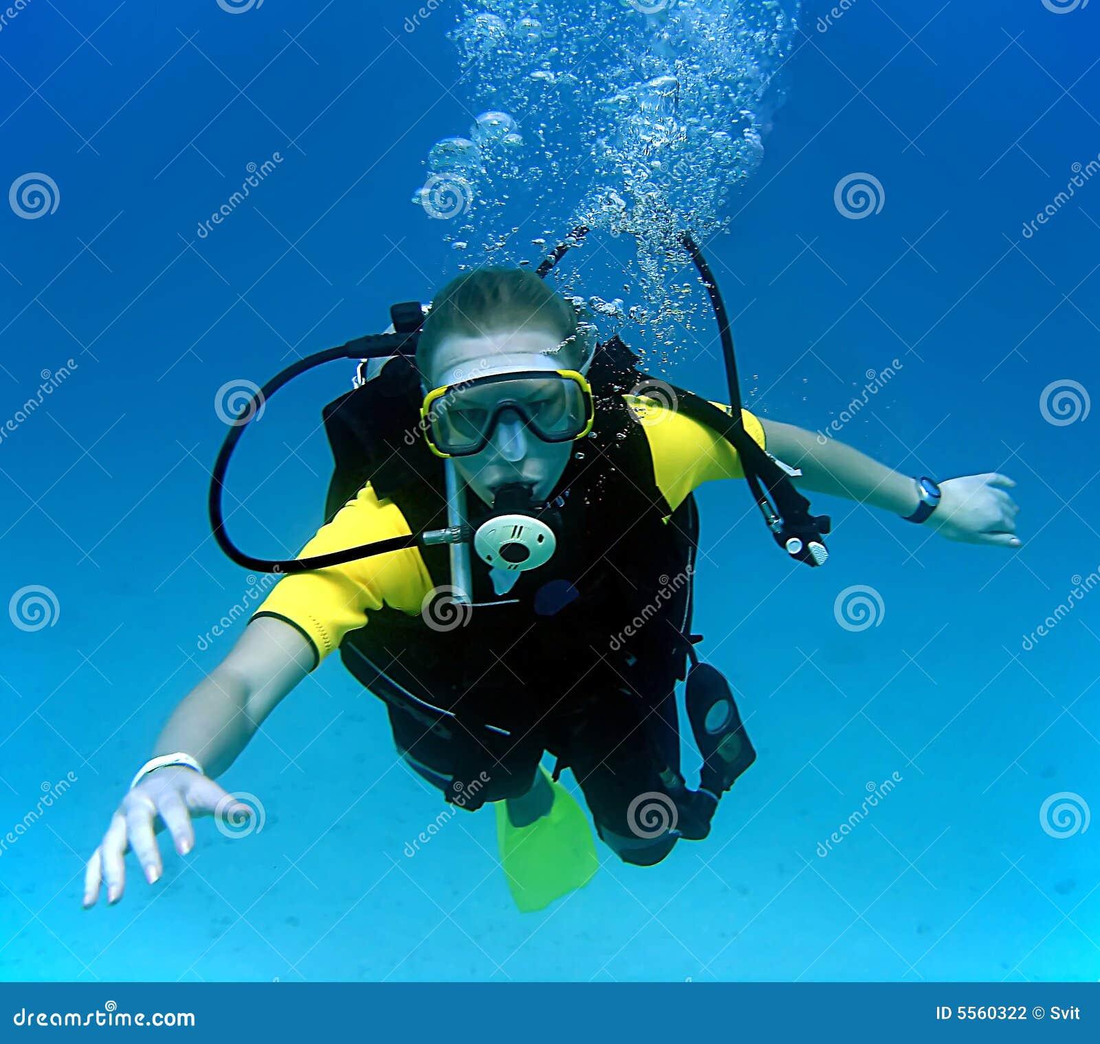 Menina do mergulho