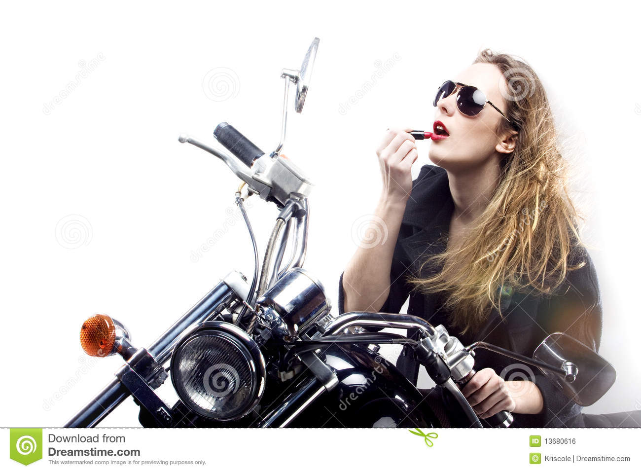 menina do rock and roll foto de stock imagem de motocicleta 13680616. Black Bedroom Furniture Sets. Home Design Ideas