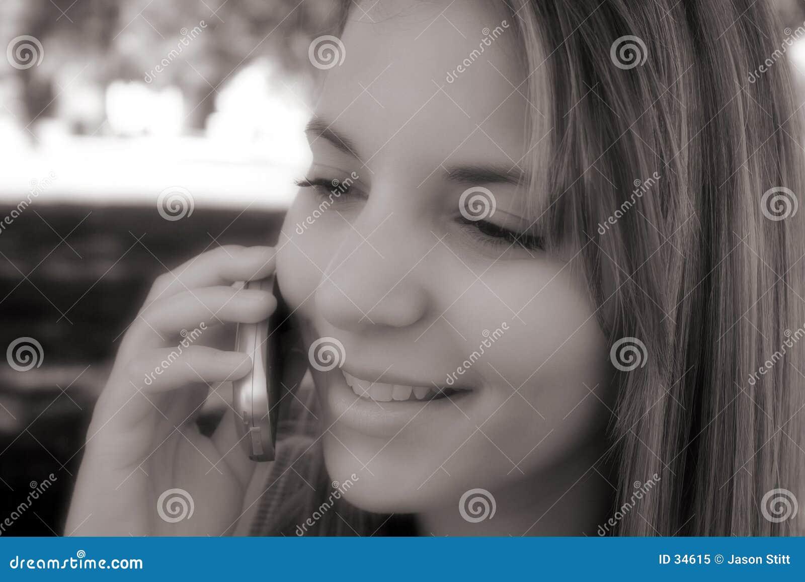 Menina do telefone