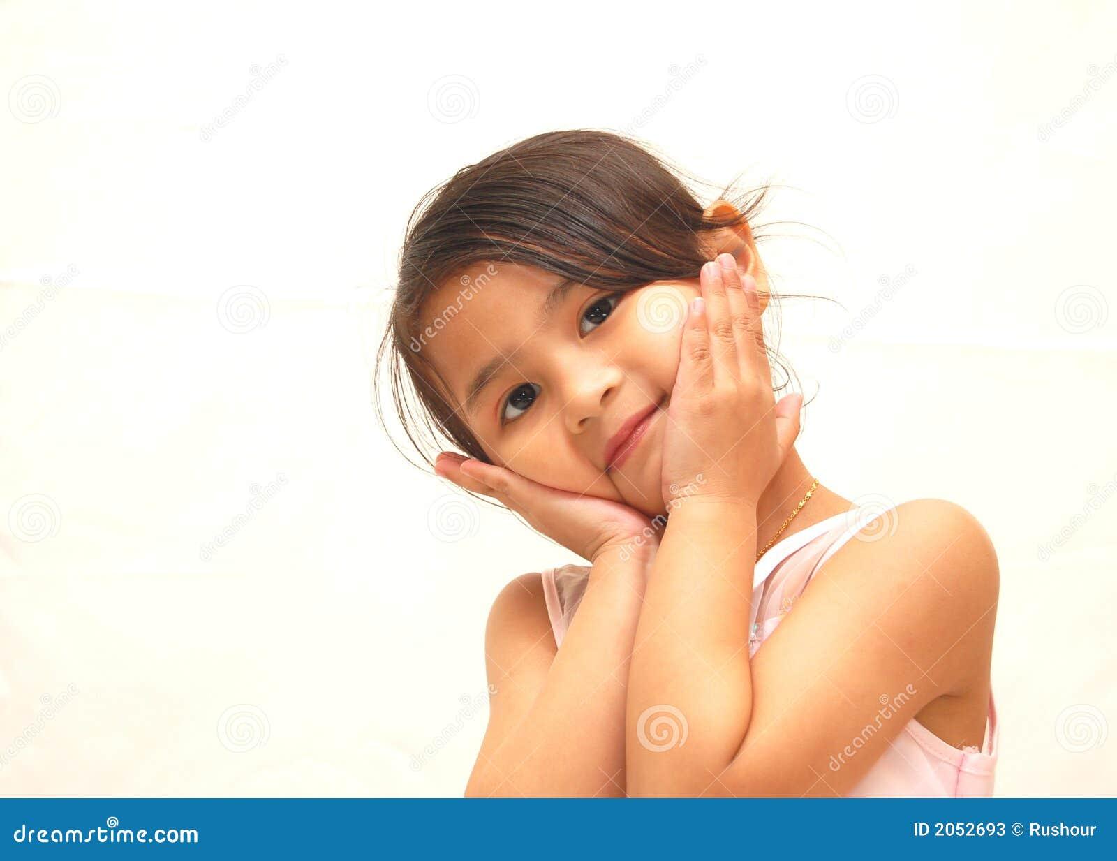 Menina doce feliz